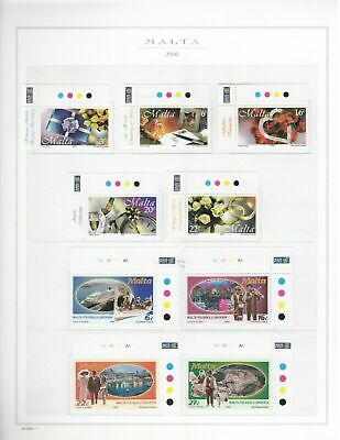 s23866) MALTA 2000 MNH** Complete year 38v + 2 s/s (5 scans) some traffic lights