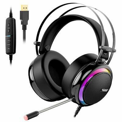 Cuffie da Gioco Virtual 7.1 Cuffie Gaming per PS4 Cuffie Over-ear con Microfono