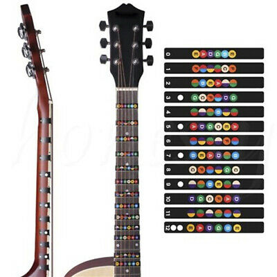 Guitar Fretboard Note Decal Fingerboard Musical Scale Map Sticker for Practic Kw