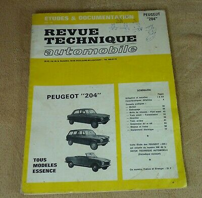 Revue Technique Automobile Rta Peugeot 204 Essence - 1972
