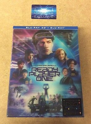 Ready Player One - Manta Lab 3D+2D Double Lenticular Blu Ray Steelbook - New