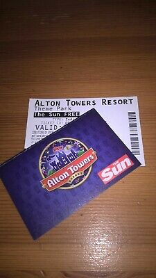 alton towers tickets x2  Saturday 28th Sept  28.09.19  not e- tickets  28/09/19