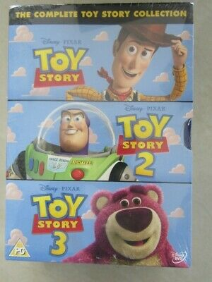 New The Complete Toy Story Collection Dvd Box Set 1 2 & 3 Free Delivery Sealed