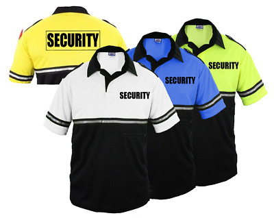First Class Two Tone Security Bike Patrol Shirt with Zipper Pocket