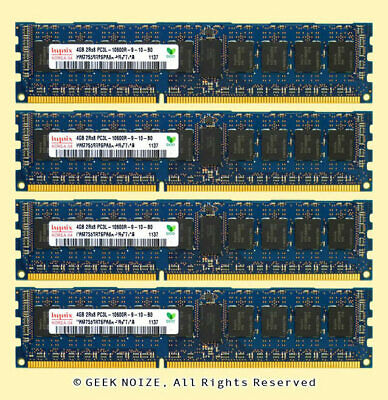 16GB DDR3 1333 PC3l-10600R ECC Registered Ram Server Memory Dual