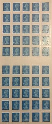 50 x GENUINE 2ND CLASS / SECOND CLASS STAMPS - SELF ADHESIVE. New And Unused.