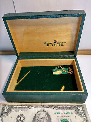 Vintage Rolex Swiss green Oyster box case only 68.00.3 for watch display