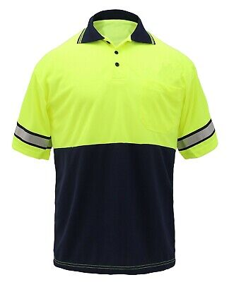 First Class High Visibility Two Tone Polo Shirt with Reflective Stripes