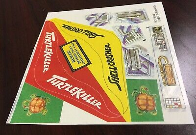 TMNT EXTRAS Sewer Lair Replacement Sticker Sheet Decals Reproductions Playmates