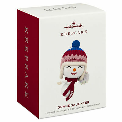 Hallmark Keepsake 2019 Granddaughter Snowman Dated Ornament