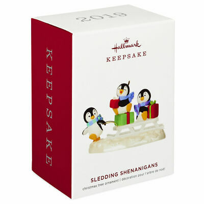 Hallmark Keepsake 2019 Sledding Shenanigans Penguins Ornament