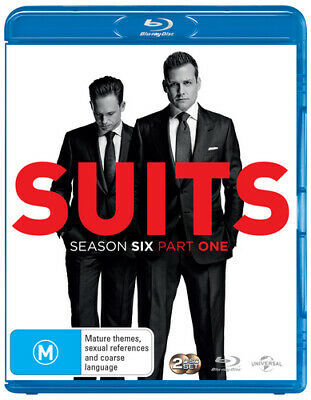 Suits: Season Six, Part One DVD (2016) Gabriel Macht 2 discs Fast and FREE P & P