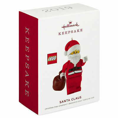 Hallmark Keepsake 2019 LEGO Santa Claus Minifigure Christmas Ornament
