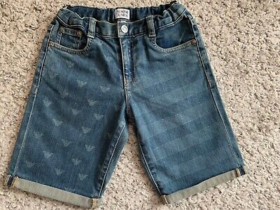 ARMANI JUNIOR  Boys Denim Shorts size 8 age 130cm excellent condition