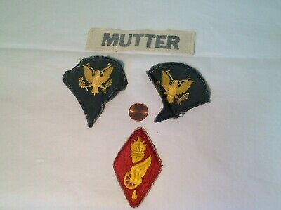 COLLECTIBLE VINTAGE MILITARY torch Pin patch RARE 2 75 x 2 5 inches