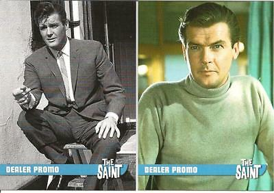 Unstoppable Cards The Saint Roger Moore Itc Exclusive Dealer Promos Rk1 & Rk2