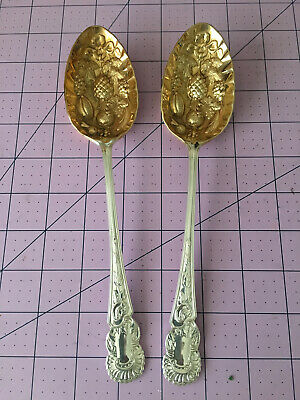 Pair of vintage EPNS Sheffield Silver plate Cooper Bros spoons