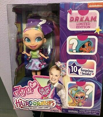 Hairdorables Jojo Siwa D.r.e.a.m. Limited Ed Doll W/ Skirt Surprise Bow + More