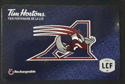 Tim Hortons Gift Card CFL Montreal Alouettes Football Team Logo