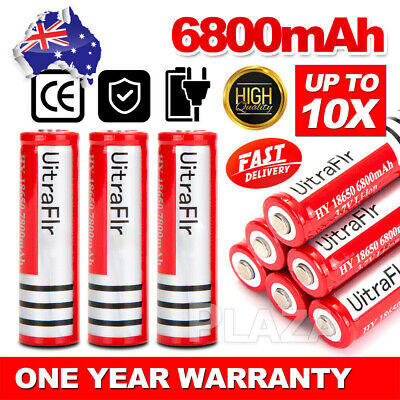 2/ 6/ 18x Ultrafire BRC 18650 3.7V Rechargeable Lithium Battery Li-ion Batteries