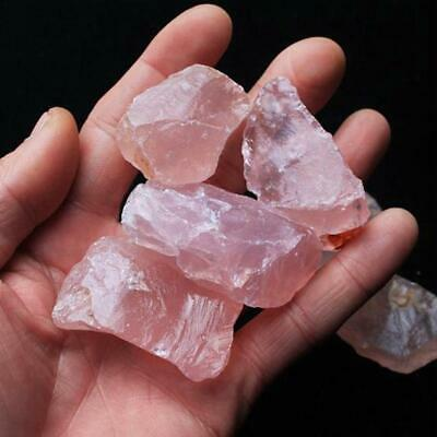 Peach Pendant Rose Quartz Natural Raw Rough Crystal Mineral Specimen Rock Stone