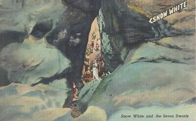 Postcard Snow White and the Seven Dwarfs Rock City Lookout Mountain Tennessee