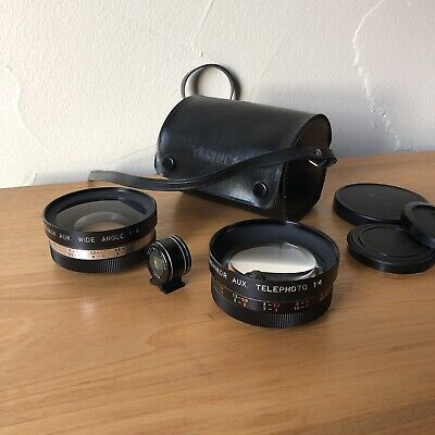 Yashica Yashikor Aux Telephoto & Wide Angle 1:4 w/ View Finder from Japan