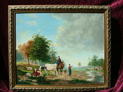 20th Century Dutch Romantic School Collectible Oil Painting