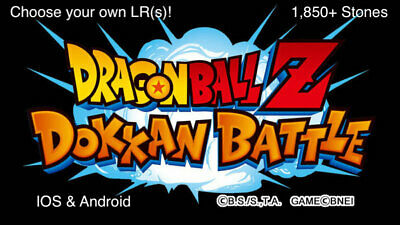 DBZ Dokkan Battle 1,850+ Stones Android & IOS. Global Accounts. With LR!