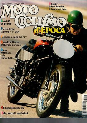 Motociclismo D'epoca Numero 1 1996 Guzzi 65 Piece Arrow
