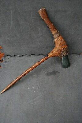 Very Old New Guinea axe with a very nice stone blade