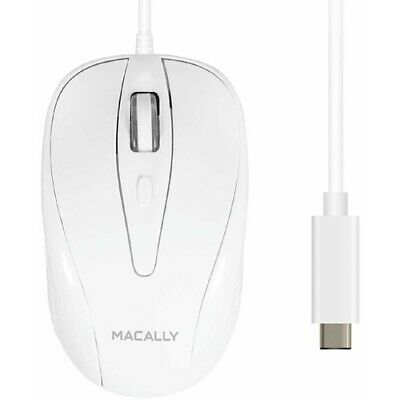 Macally 3 Button Optical USB-C Wired Mouse for Mac and PC