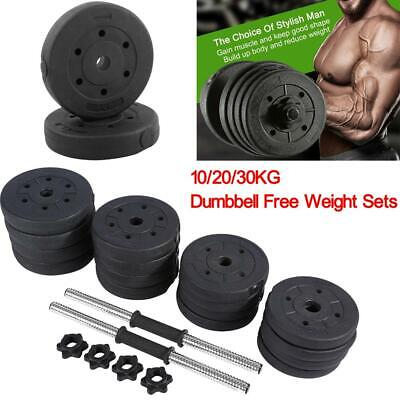 10/20/30KG Dumbbell Set Vinyl Free Weight Sets Gym Weights Fitness Bicep Tricep