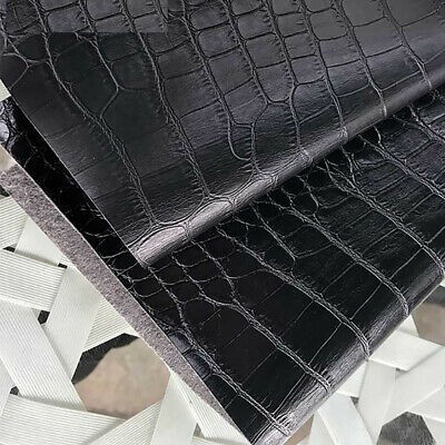 A4 Crocodile PVC Leather Faux Embossed Leather Fabric for Sewing DIY Synthetic