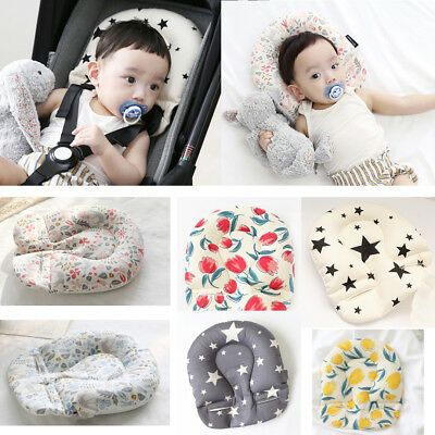 US New Baby Head Sleeping Support Pillow Stroller Liner Mat Car Seat Cushion Pad