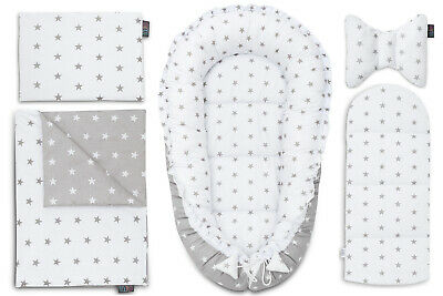 Sleepyhead Baby Nest 5 Elements Baby Cushion Grey Stars Pod Baby Pod