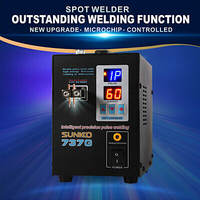 SUNKKO 737G 110V/220V Hand Held Battery Spot Welder with Pulse&Current Display