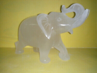 Beautiful Handmade Indian Marble Elephant Statue Home Decor