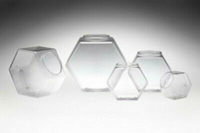 30oz/80oz/129oz/197oz/342oz PVC Hexagons Jar Candy Bin Stackables Candy Jar