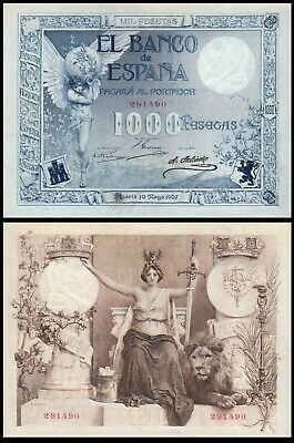 Facsimil Billete 1000 Pesetas de Mayo 1907 - Reproduction