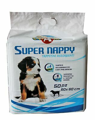 CROCI Dog Absorbent Super Nappy, 60 x 60 cm, Pack of 50
