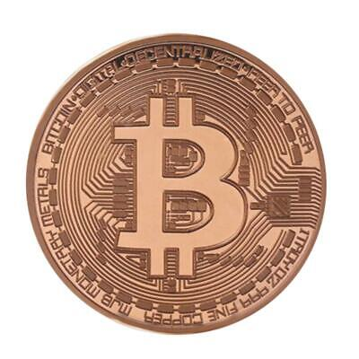 Gold-Plated Physical Bitcoins Collect Coin for New Year Gift Souvenir Decor #JT1