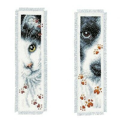 Vervaco Pack of 0155651Bookmark Set of 2Cross Stitch Kit Embroidery, Cotton...