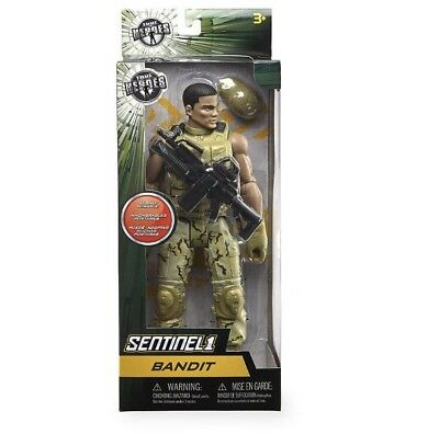 "TRUE HEROES Military Highly Posable  Figure 12"" Sentinel- BANDIT"