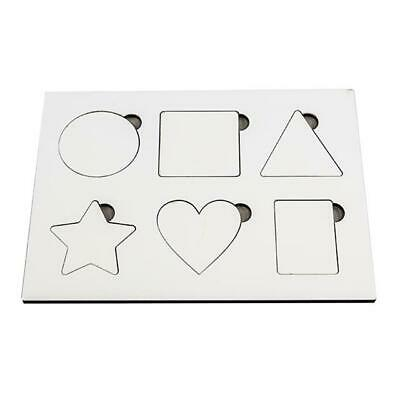 Sublimation Blank MDF Toddler Educational Toy for Heat Transfer Printing