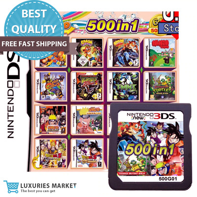 500 In 1 Games Multi Cartridges For Nintendo DS NEW NDS NDSL-NDSi 3DS 2DS XL LL