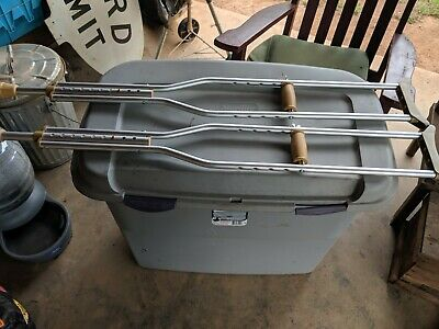 (1 Pair) Used Carex  Crutches Adjustable Size