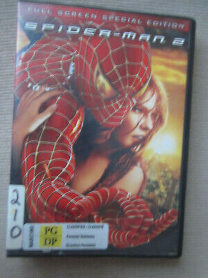 Spider-Man 2 Spiderman Two DVD Full Screen Special Ed 2004 Tobey Franco Dunst