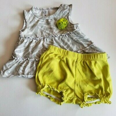 Carters Infant Girls 2 Pc Summer Shorts Outfit Set Tank Top Size 6 Months