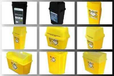 Frontier Clinical Waste Needle Sharps Bin Container, Waste Disposal Box 1 2 5 10